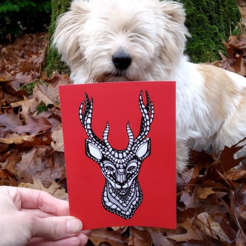 Postcards – Deer (5 pcs)