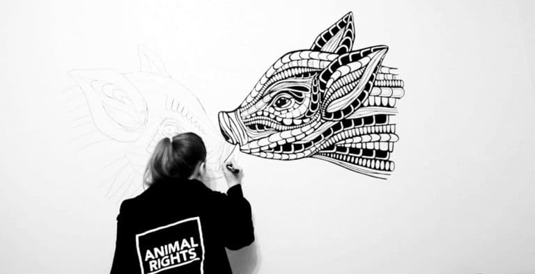 ANIMAL RIGHTS mural
