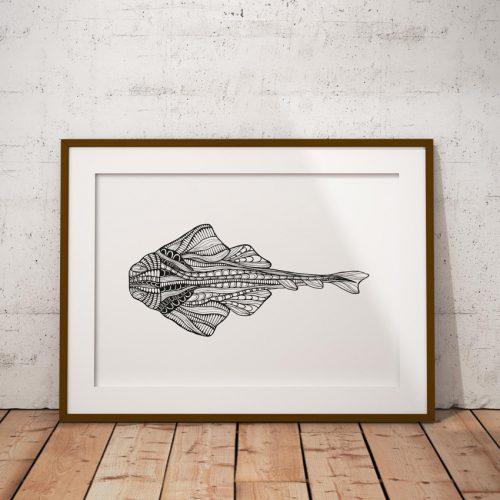 Artprint Angelshark