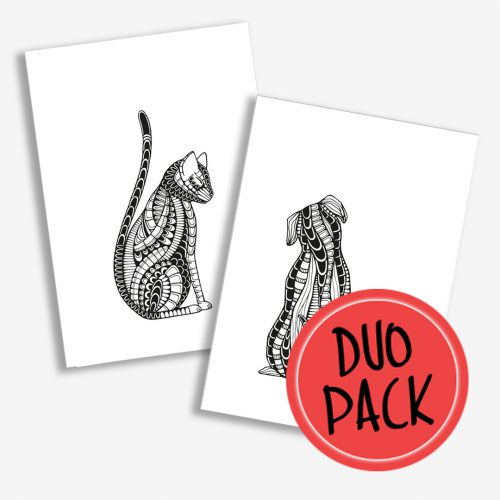 Duo Pack Artprints Cat & Dog