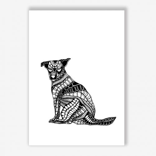 Artprint Sitting Dog