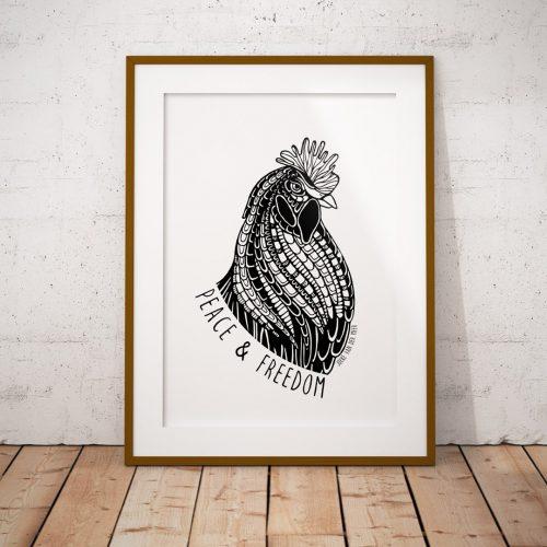 Artprint Rooster