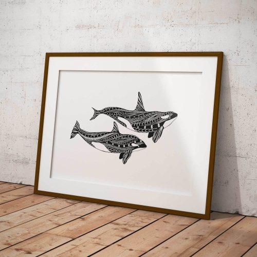 Artprint Orca's (no text)