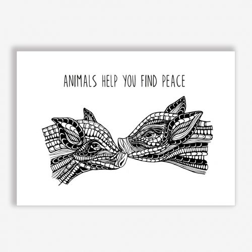 Artprint Baby Pigs with a message