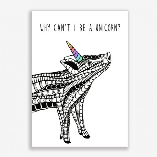 Artprint Unicorn Pig