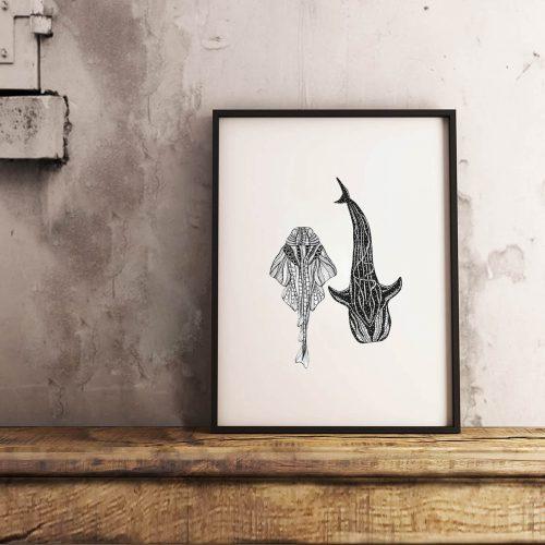 Artprint Sharks