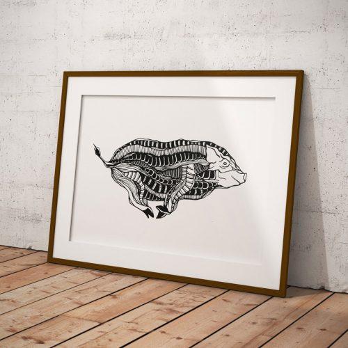 Artprint Hog