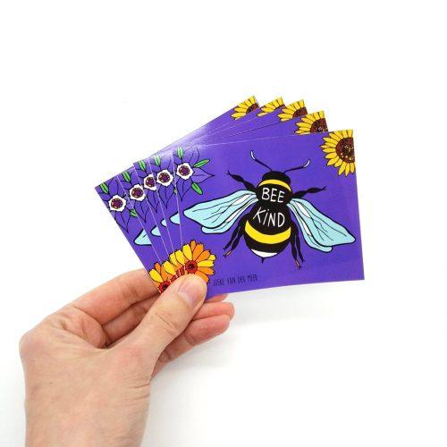 Stickers Bee Kind (4 pcs)