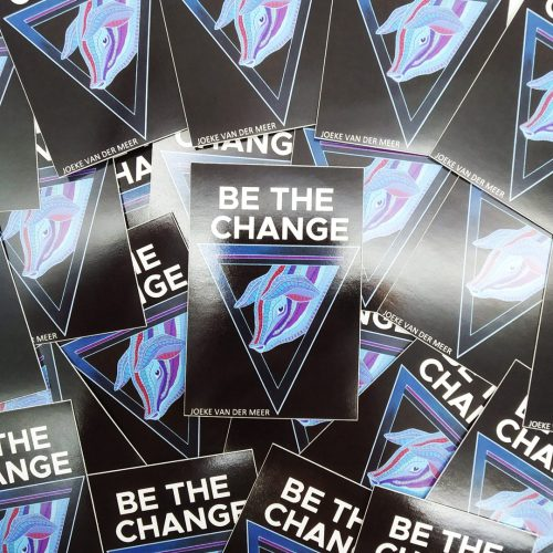 Stickers Be The Change (10 pcs)