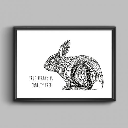 Artprint Bunny With a Message)