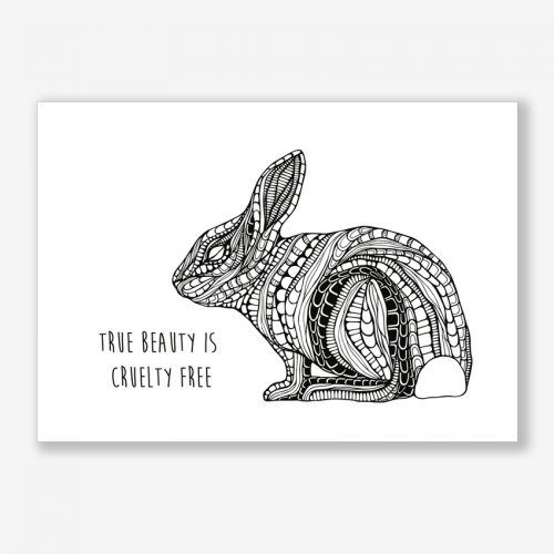 Artprint Bunny With a Message