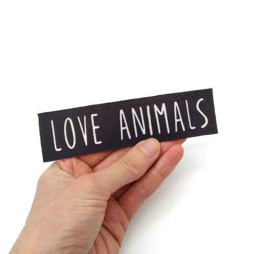 Sew-On Patch Love Animals Medium