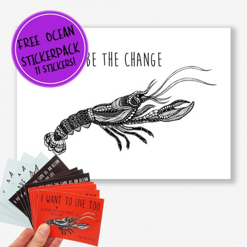 Artprint Lobster With a Message