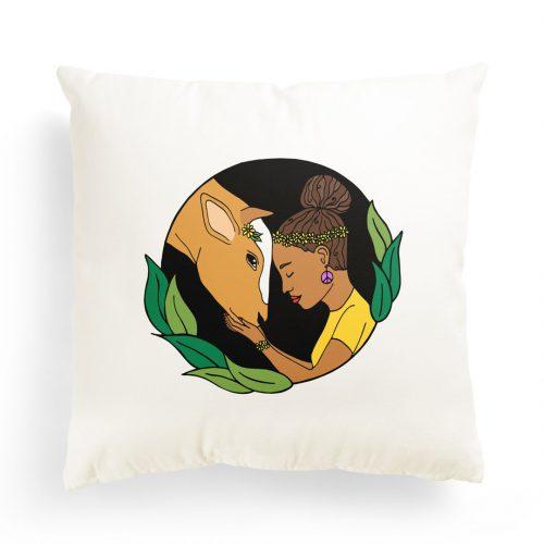 Pillowcase – Girl & Cow