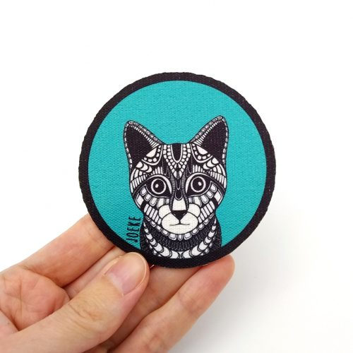 Sew-On Patch Cat