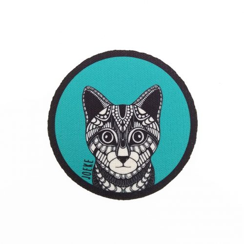 Sew-On Patch Cat Small