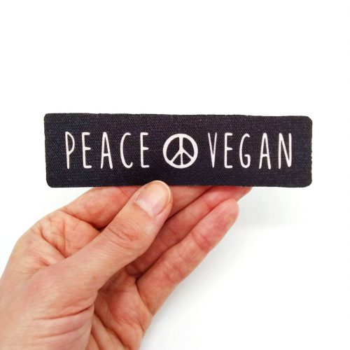Sew-On Patch Peace Vegan