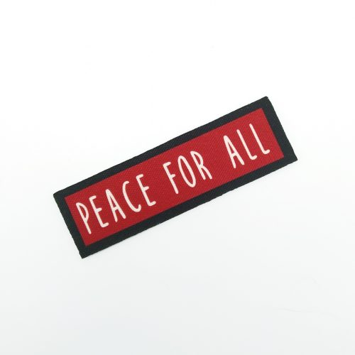 Sew-On Patch Peace For All