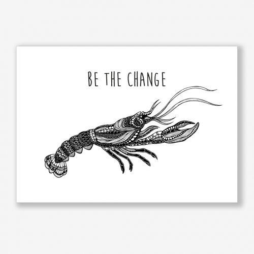 Artprint Lobster With a Message