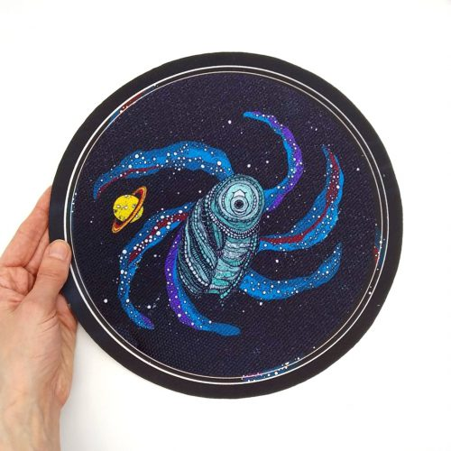 Sew-On Patch Tardigrade Oversized