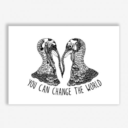 Artprint Turkeys With a Message