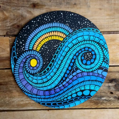 ORIGINAL Artwork on Wood – Space YinYang