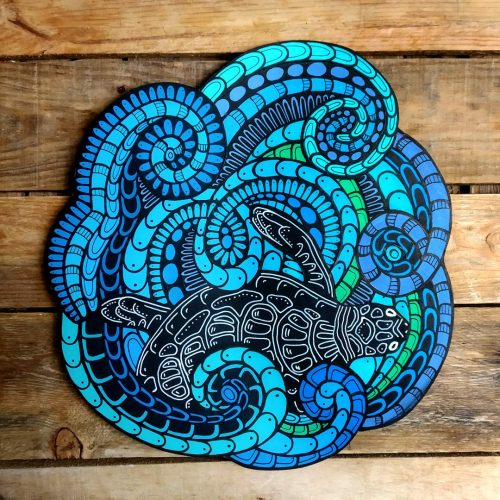 ORIGINAL Artwork on Wood – Turtle