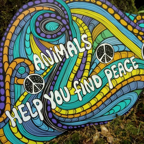 ORIGINAL Artwork on Wood – Animals Help You Find Peace