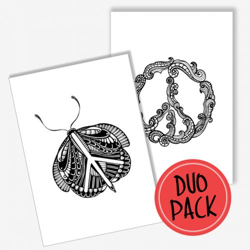 Duo Pack Artprints Peace