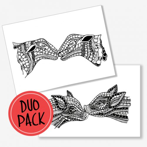 Duo Pack Artprints Animal Love