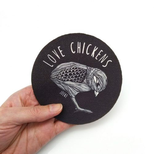 Sew-On Patch Love Chickens Medium 🐤