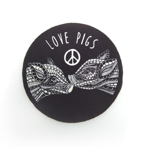Sew-On Patch Love Pigs Medium 🐷🐷