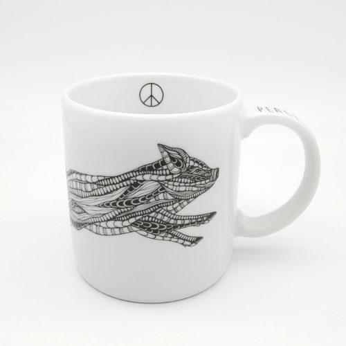 Mug Running Piglet