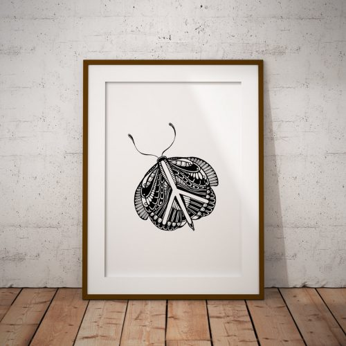 Artprint Peace Butterfly