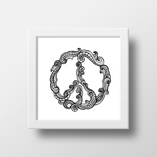 Artprint Peace Waves