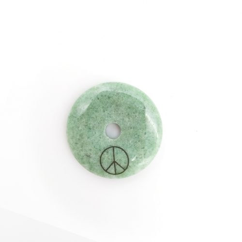 Gemstone Pendant Circle – Peace