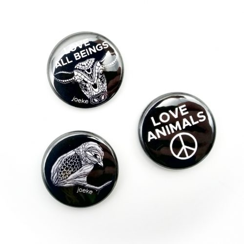 Pins – Love animals (3 pcs)