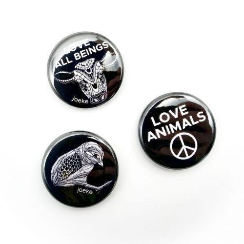 Pins – Love animals (3 pcs)