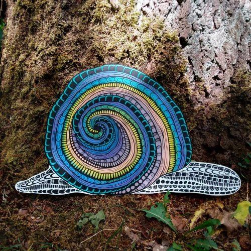 ORIGINAL Artwork on Wood – Snail