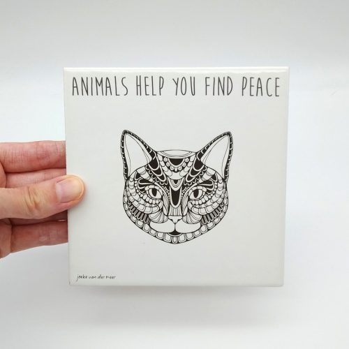 Tile Cat- Animals help you find peace