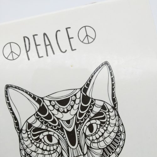 Tile Cat- Peace
