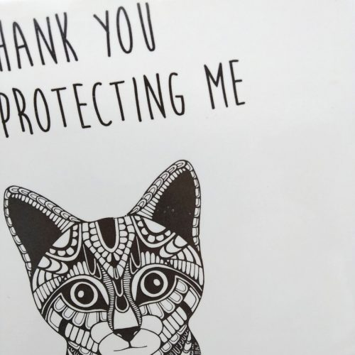 Tile Cat- Thank you for protecting me