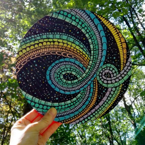 ORIGINAL Artwork on Wood – Trippy Galaxy