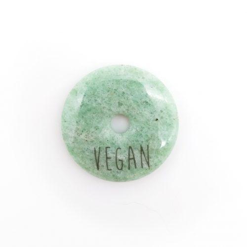 Gemstone Pendant Circle – Vegan