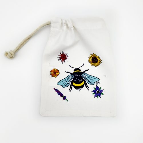 Drawstring bag – Bee Kind