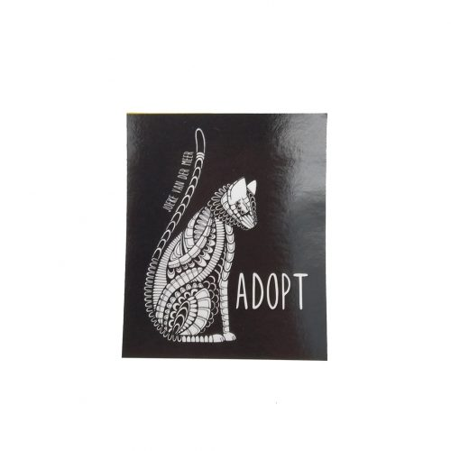Stickers Adopt a Cat (10 pcs)