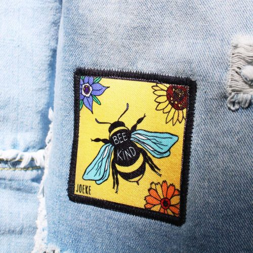Sew-On Patch Bee Kind Small