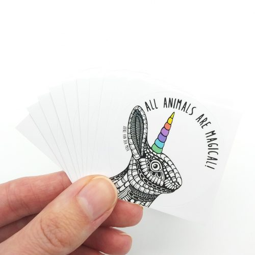 Stickers Unicorn Bunny (10 pcs)