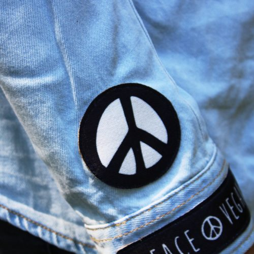 Sew-On Patch Peace Symbol Mini