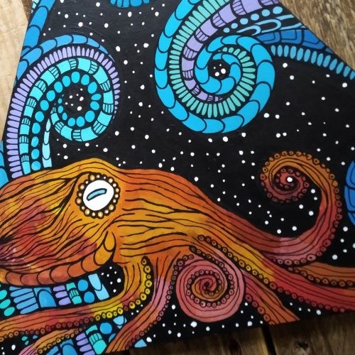 ORIGINAL Artwork on Wood – Octopus